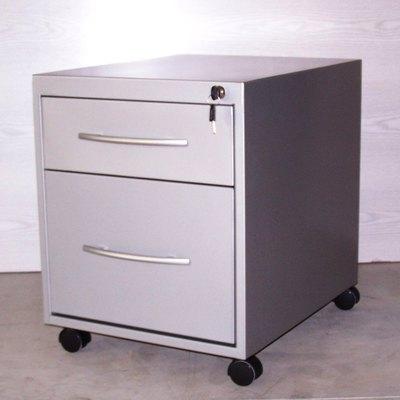 Buck metálico con un cajón y archivo blanco