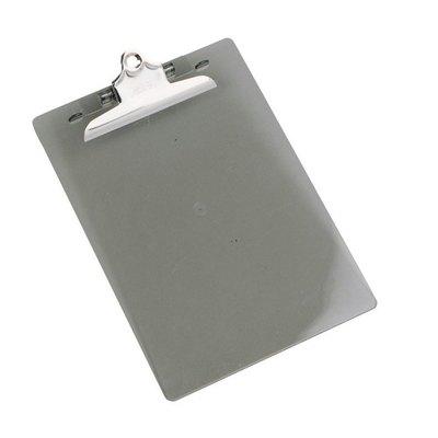 Placa portanotas pinza metal transparente 869610