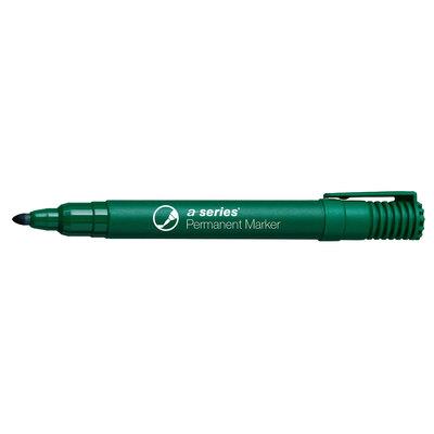 Rotulador permanente punta cónica A-Series verde