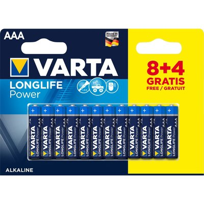 Pila alcalina Varta Longlife Power 4906121472