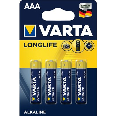 Pila alcalina Varta LongLife AAA LR03