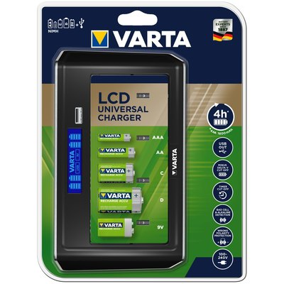 Cargador de pilas universal VARTA LCD 5767810140