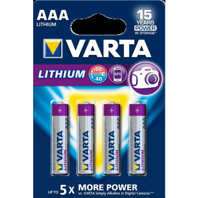 Pilas Varta Lithium 6106301404
