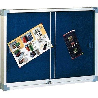 Vitrina de corcho tapizada con puerta corredera Faibo 614T-2