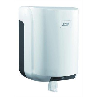 Dispensador de papel secamanos extracción central JVD Cleanline gris/blanco