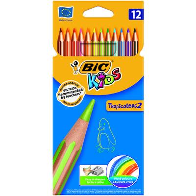 Lápices de colores hexagonales Bic Kids Tropicolors 8325669