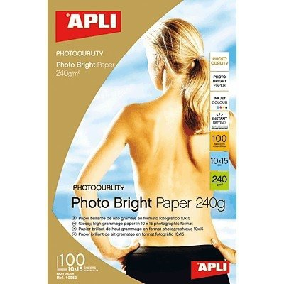 Papel fotográfico brillante Apli Photo Bright A4 240g