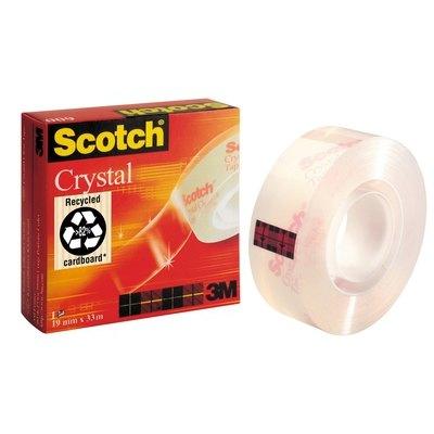 Cinta Scotch supertransparente cristal 33 m x 19 mm