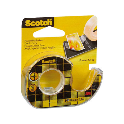 Cinta adhesiva de doble cara transparente con dispensador Scotch 136D