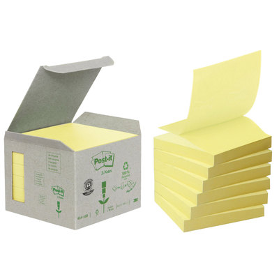 Bloc de notas adhesivas zig zag recicladas Post-it Z- Notes R330-1RPT