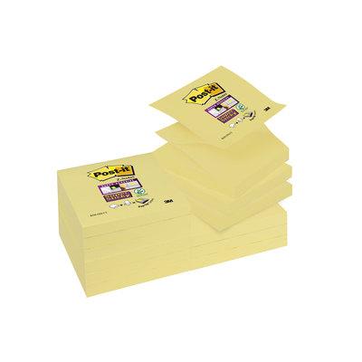 Bloc de notas adhesivas zig zag Post-it Z-Notes Super Sticky R350-12SS-CY