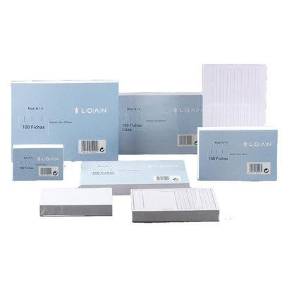 Fichas rayadas para ficheros Loan nº1  65x95mm