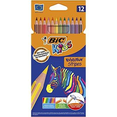 Lápices de colores evolutions stripes Bic Kids   950522