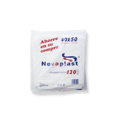 Bolsas con asa blanca 40x50cm Nevaplast 20240500025001