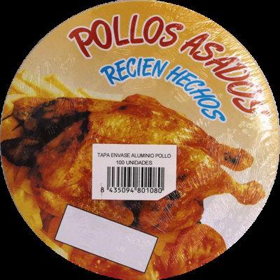 Tapas envases de pollo 195x144x44mm TP-1006