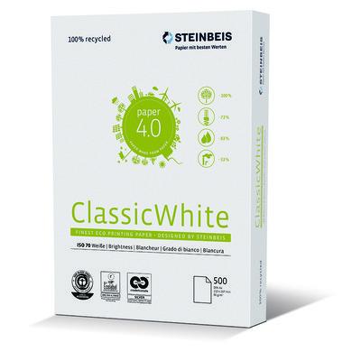 Papel Reciclado Steinbeis Classic White 80g 248001
