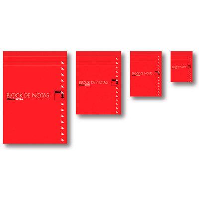 Blocs de notas perforado con cubierta 80 hojas Pacsa 4º cuadriculado, 155x210mm
