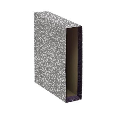 Funda de archivador jaspeado gris A-Z lomo 75mm DisOfic folio