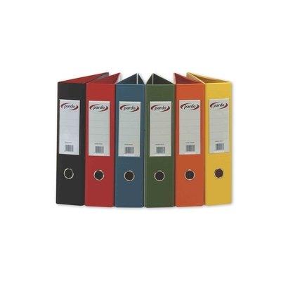 Archivador de palanca folio plástico lomo 70mm Pardo rojo