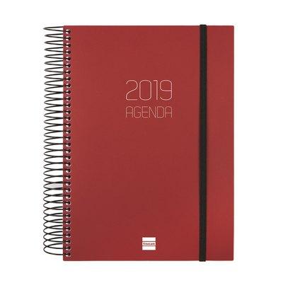 Agenda día página Finocam Opaque 15,5x21,5cm negro