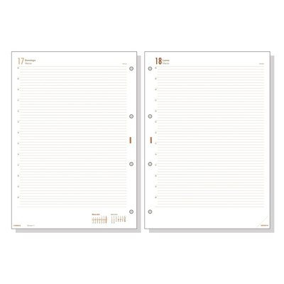 Recambio agenda día página Finocam Open 4000 día página 21x29,7cm R4098