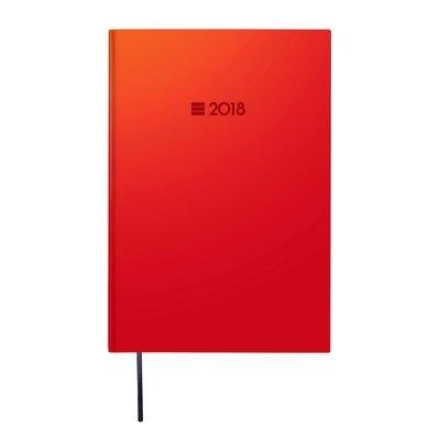 Agenda día página Finocam Porto Y10 14x20,4cm rojo