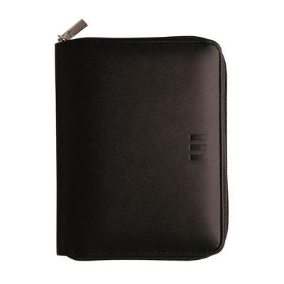 Agenda con cremallera Finocam Open 500 Clan 11,7x18,1cm negro