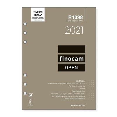 Recambio agenda anual día página 2021 Finocam Open 1000 R1098 711680021