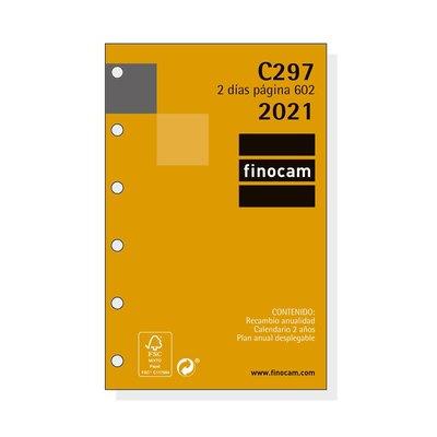 Recambio agenda anual Dos días página 2021 Finocam C297 Classic 602 201280021