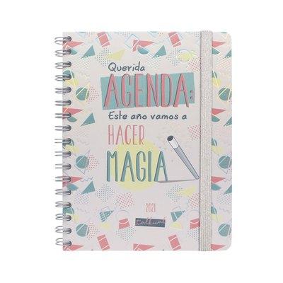 Agenda espiral Semana vista 2021 Finocam Talkual Magia 15,5x21,7cm 785221021