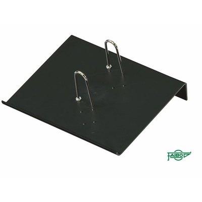 Portacalendarios de plástico negro Faibo