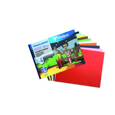 Bloc de trabajos manuales cartulina colores Sadipal 05980