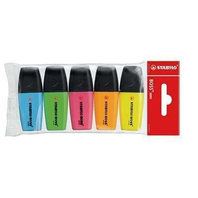 Rotulador fluorescente Stabilo Boss mini estuche de 5