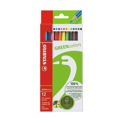 Lápices de colores Stabilo ecológicos 6019/2-121