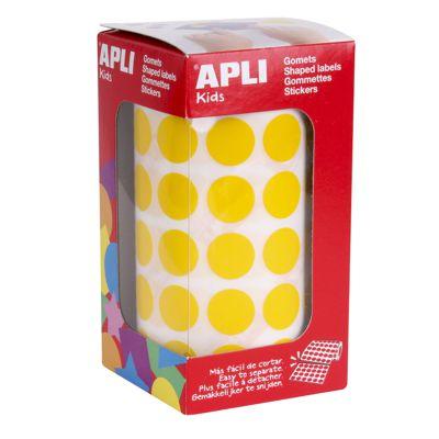 Gomets autoadhesivos permanentes redondos colores 15mm Apli 04855