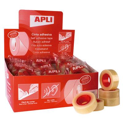 Cinta adhesiva transparente Apli 12mmx66m