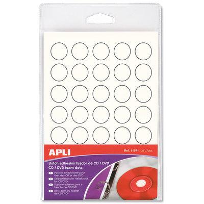 Botones adhesivos CD/DVD 11671
