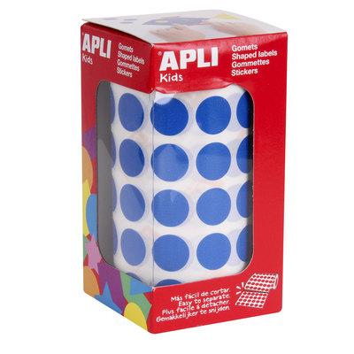Gomets autoadhesivos permanentes redondos colores 15mm Apli 04858