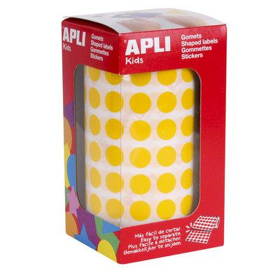 Gomets autoadhesivos permanentes redondos 10,5mm colores Apli 04854