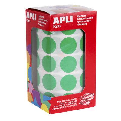 Gomets autoadhesivos permanentes redondos colores 20mm Apli 04861