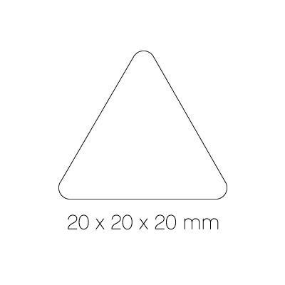 Gomets autoadhesivos permanentes triangulares 20mm Apli 04868