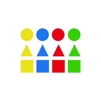 Gomets autoadhesivos permanentes figuras geométricas tamaños surtidos Apli 00993