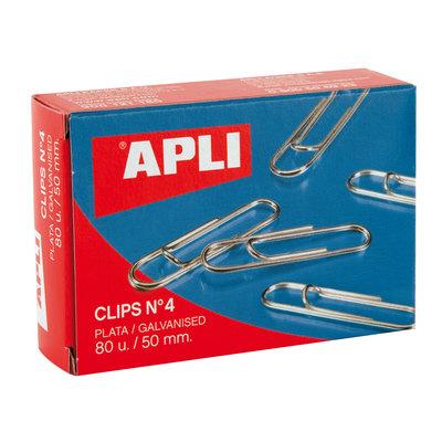 Clips labiados plateados Apli nº1,5 26mm