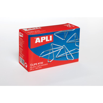 Clips pajarita Apli 11914