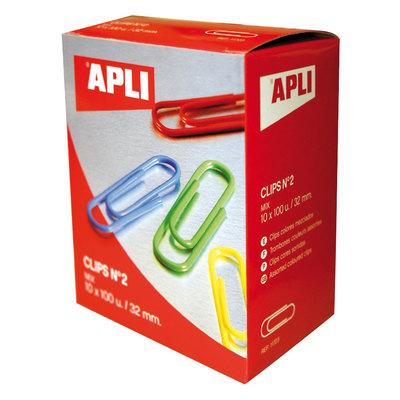 Clips plastificados de colores Apli