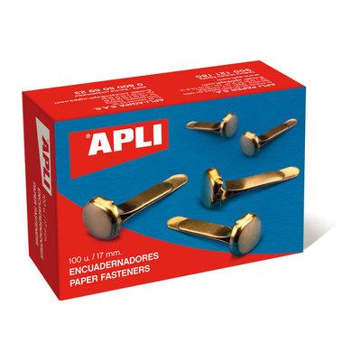 Encuadernador metálico sin arandela Apli 12mm