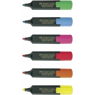 Rotulador fluorescente Faber-Castell Textliner rojo