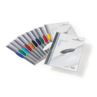 Dossier con clip plástico A4 30 hojas Durable Swingclip negro