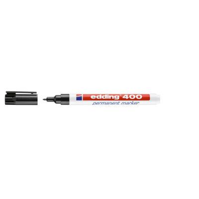 Rotulador permanente punta redonda Edding 400 azul