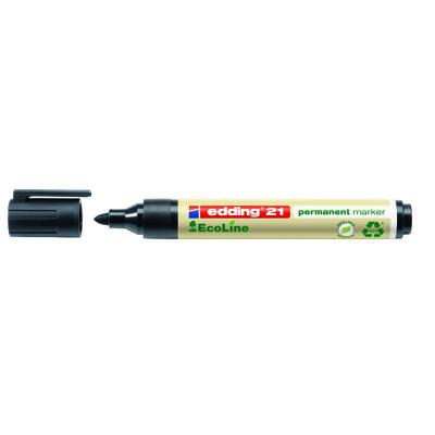 Rotulador permanente punta redonda Edding 21 EcoLine negro